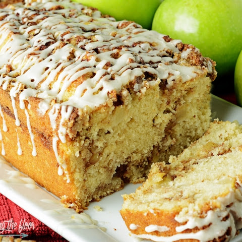 Glazed Apple and Walnut Bread
