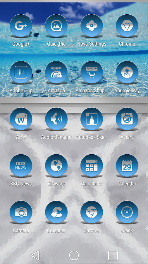 Daf Blue - Icon Pack Screenshot 1