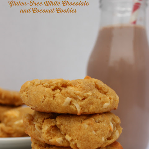 Gluten-Free White Chocolate and Coconut Cookies