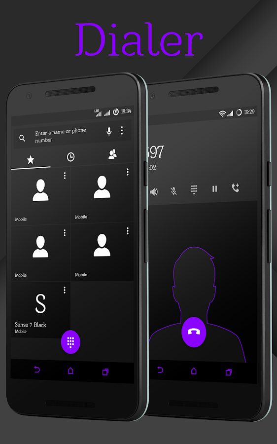 Sense Black/Purple cm13 theme Screenshot 2