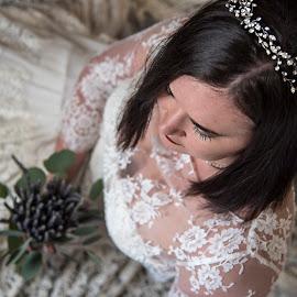 Bridal Portrait by Amy Laskye - Wedding Bride ( bride, bridal portraits, bridal portrait, bridal gown, wedding )