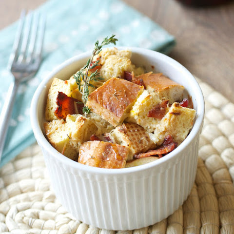 Savory Bread Pudding with Bacon