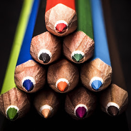 Pencils by Mario Toth - Artistic Objects Education Objects ( colored pencils )