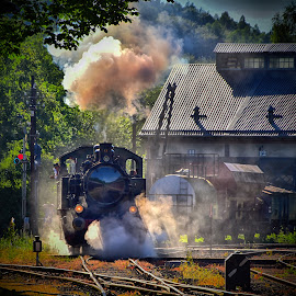 Start-Up ! by Marco Bertamé - Transportation Trains ( steam engine, fond-de-gras, locomotive, luxembourg, steam )