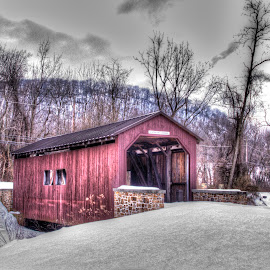 Abandoned Covered Bridge by Keith Wood - Buildings & Architecture Bridges & Suspended Structures ( kewphoto, covered bridge, bridge, keith wood )