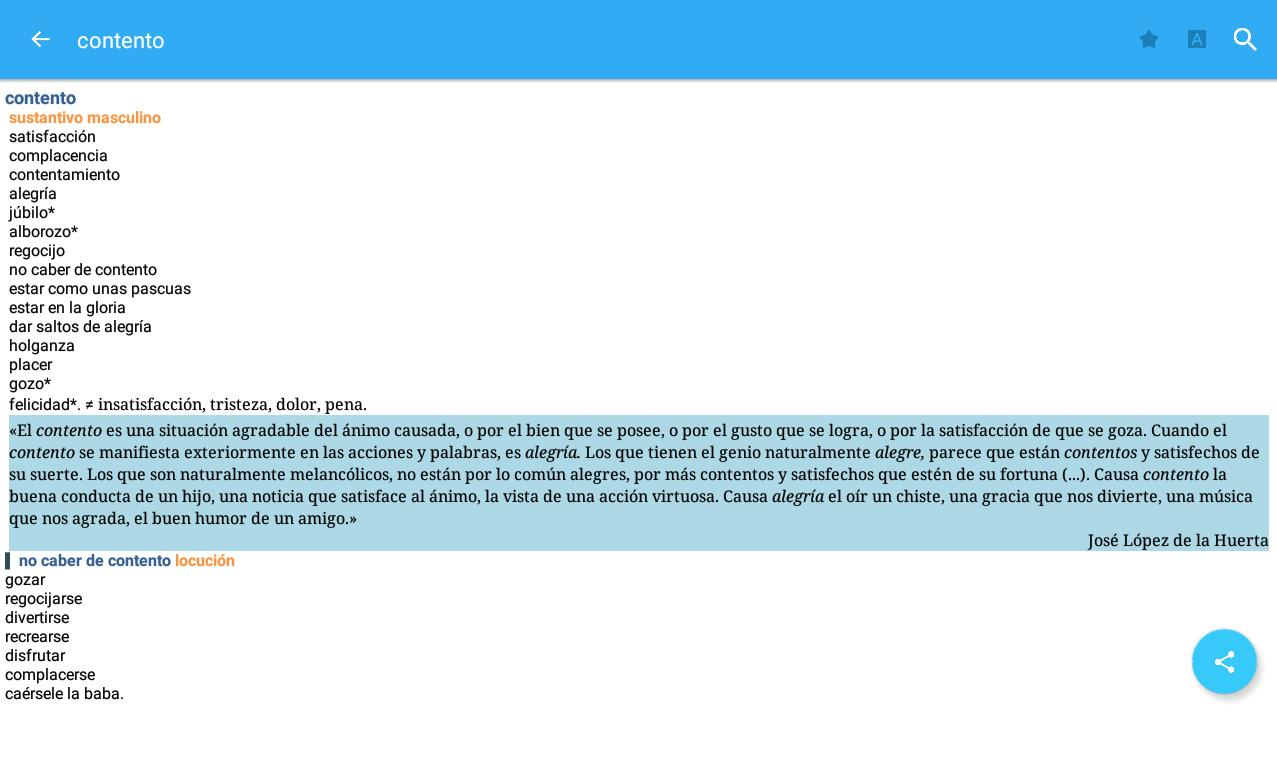 Vox Spanish Advanced Dict Screenshot 15
