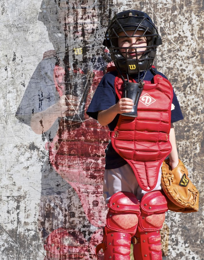 Batter Up! by Gregg Nelson - Sports & Fitness Baseball ( hardball, catcher, poster, coach pitch )