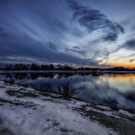 Blue Hour by Linda Karlin - Landscapes Sunsets & Sunrises