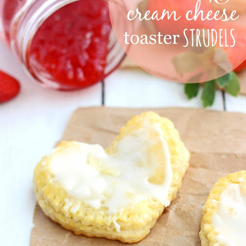 Homemade Strawberry & Cream Cheese Toaster Strudels