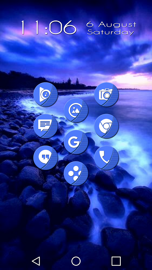 Naz Blue - Icon Pack Screenshot 0