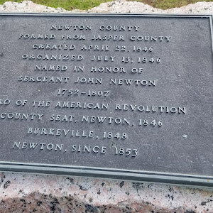 Newton CountyFormed from Jasper CountyCreated April 22, 1846Organized July 13, 1846Named in honor ofSergeant John Newton1752-1807Hero of the American RevolutionCounty seat, Newton, 1846Burkeville, ...