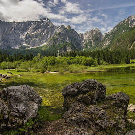 Lago Superiore Di Fusine by Arn Thor - Landscapes Mountains & Hills ( mountains, nature, lake, landscape, italy, mountmangart )