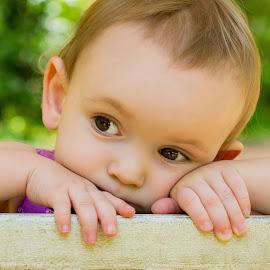 by Felicia Harvey - Babies & Children Child Portraits ( child, girl, thinking, toddler, pretty )