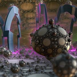 The Boasted Kingdom by Rick Eskridge - Illustration Sci Fi & Fantasy ( fantasy, jwildfire, mb3d, fractal, twisted brush )