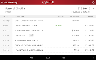 Screenshot of Apple Federal Credit Union