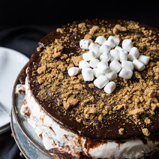 S'more Brownie Ice Cream Cake