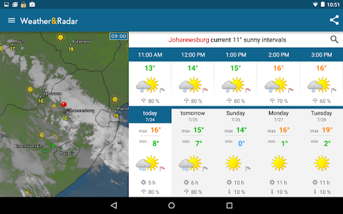 App Weather & Radar APK for Kindle