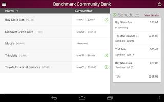 Screenshot of Benchmark Community Bank