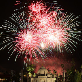 Lego Taj Mahal Firework by ChengYang Kng - City,  Street & Park  Amusement Parks ( countdown, fireworks, legoland, lego )