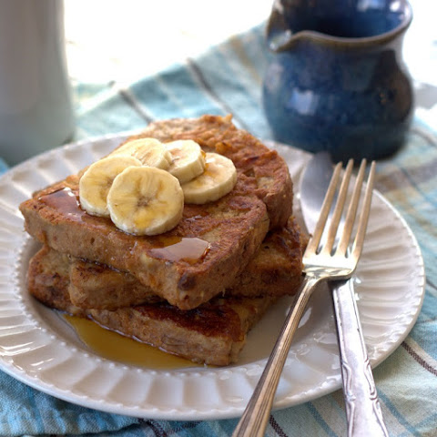 Vegan Peanut Butter Banana French Toast
