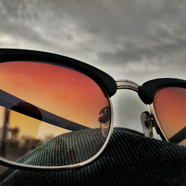 shades by Nikhil Wagh - Artistic Objects Clothing & Accessories ( reflection, sky, glasses, shadow, dark )