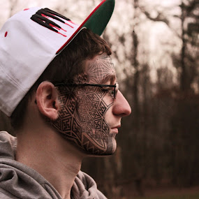 Face tattoo by Kaleb Kimmelman - People Body Art/Tattoos