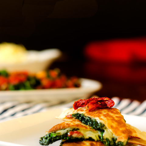 Spinach Sun Dried Tomato Quesadillas (& What's Going On in My World) (Vegetarian, Gluten Free)