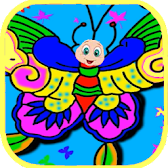 Butterfly Coloring Pages : Butterfly Outline APK Icon