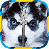 Puppies Zipper Lock Screen APK for Bluestacks
