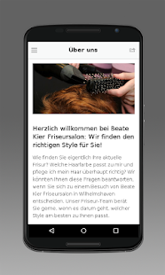 Beate Kier Friseursalon - screenshot
