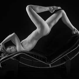 Angles and Curves by Colin Dixon - Nudes & Boudoir Artistic Nude ( pose, art nude, monochrome, nude, naked, women )
