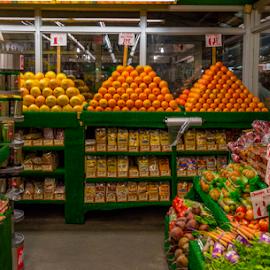 Market Place by Joseph Law - City,  Street & Park  Markets & Shops ( fresh, colorful, fruits, vegetables, new york, market place )