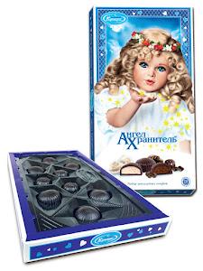 """Конфеты шоколадные """"Ангел Хранитель"""", набор из трех видов, прям. 130г"""