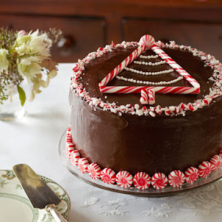 Peppermint-Chocolate Layer Cake