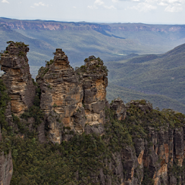 The Three Sisters, Australia by Reinilda Sissons - Landscapes Caves & Formations