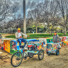 COLORFUL ICE CREAM MAN by Louis Perlia - Food & Drink Candy & Dessert