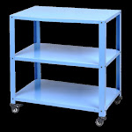 Low Price Library And Hospitcal Use Compact Three Tier Trolley
