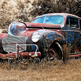 Dodge  by JEFFREY LORBER - Transportation Automobiles ( car, vintage, lorberphoto, rusted car, rust 'n chrome, dodge, rust, jeffrey lorber )