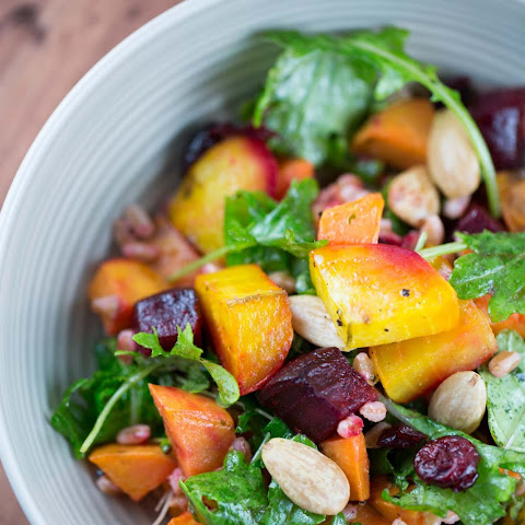 Harvest Roasted Root Vegetable Salad with Farro