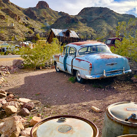 Vintage by Diane Garcia - Instagram & Mobile iPhone ( blue, car, vintage, antique )