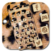 Free Download Diamond Cheetah Theme - gold leopard print APK for Samsung