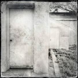 2 doors by David Stone - Instagram & Mobile iPhone ( doors, building, doorway, texture, architecture, square )