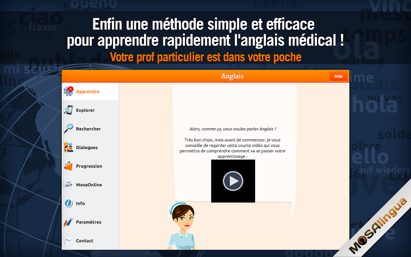 Anglais Médical - MosaLingua Screenshot 5