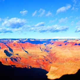 by Kume Bryant - Landscapes Caves & Formations ( clouds, hills, twigs, grand canyon south rim, mountain, silhouette )