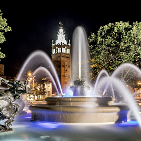 by Jackie Eatinger - City,  Street & Park  Night (  )