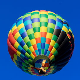 Fire In The Sky by Dave Dabour - Transportation Other ( warren county farmers fair, overhead, summer, balloons, friday, hot air balloons, fire )