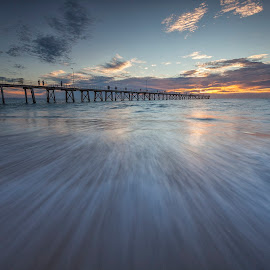 The Pier by Steve Badger - Landscapes Sunsets & Sunrises ( south australia, port noarlunga, sunset, australia, pier, adelaide )