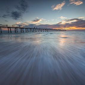 The Pier by Steve Badger - Landscapes Sunsets & Sunrises ( south australia, port noarlunga, sunset, australia, pier, adelaide,  )