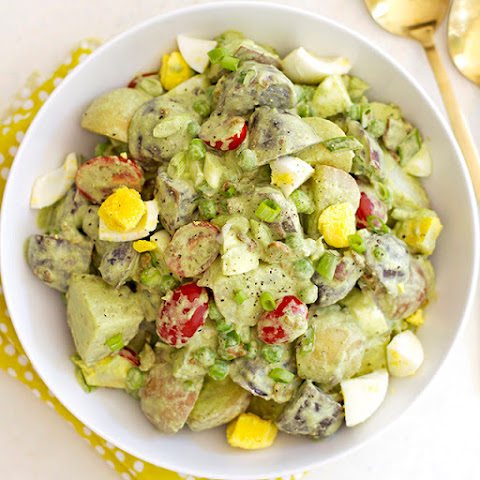 Green Goddess Potato Salad with Bacon and Peas
