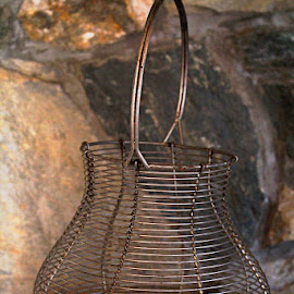 Vintage Wire Basket by Meeta Thakur - Artistic Objects Other Objects ( wire, basket, egg, storage )